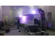 Metalizing an I beam for a bridge in MA.