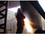 Metalizing rudder
