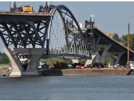 During metalizing Lake Champlain Bridge